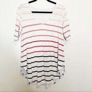 Torrid Super Soft Knit Stripped Shirt Short Sleeve